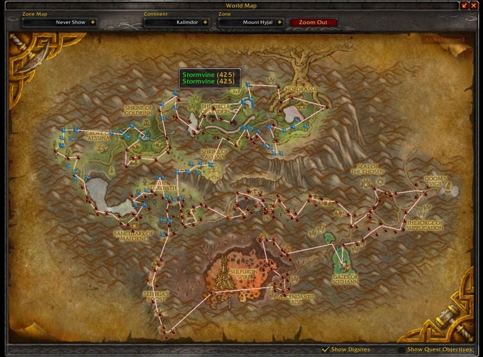 Routes + GatherMate2 + GatherMate2_Data   Women of Warcraft